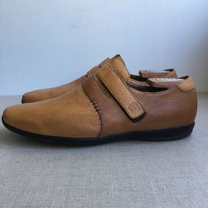 Tsubo Men US 8 Tan Leather Bentong Loafers